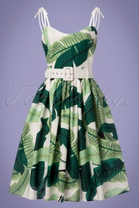Collectif Clothing Jade Banana Leaf Swing Dress in Green 23622 20171120 0021w