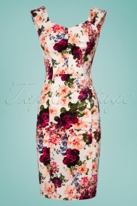 Hearts and Roses London Floral Pencil Dress 100 57 26105 20180516 0001W