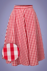 Compania Fantastica Red Checked Skirt 122 27 24465 20180515 0002W1