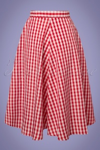Compania Fantastica Red Checked Skirt 122 27 24465 20180515 0001W