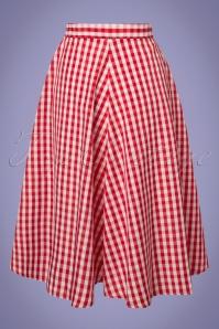 Compania Fantastica Red Checked Skirt 122 27 24465 20180515 0001W