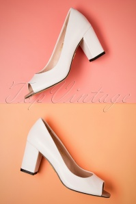 Yull Shoes White Peeptoe Westbourne Heels 403 50 24621 16052018 013W