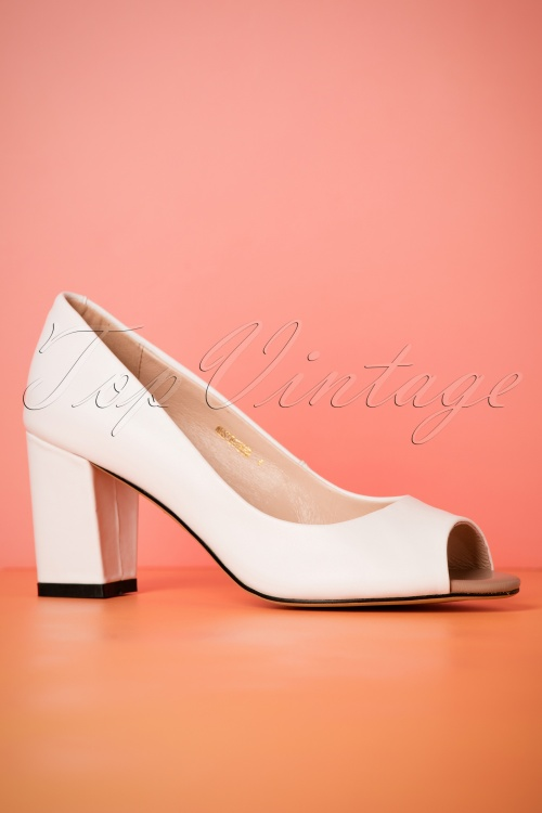 24db19920575a5 Yull Shoes White Peeptoe Westbourne Heels 403 50 24621 16052018 005W