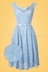 Dancing Days by Banned Love Lace Blue Dress 102 30 24298 20180508 0001wv