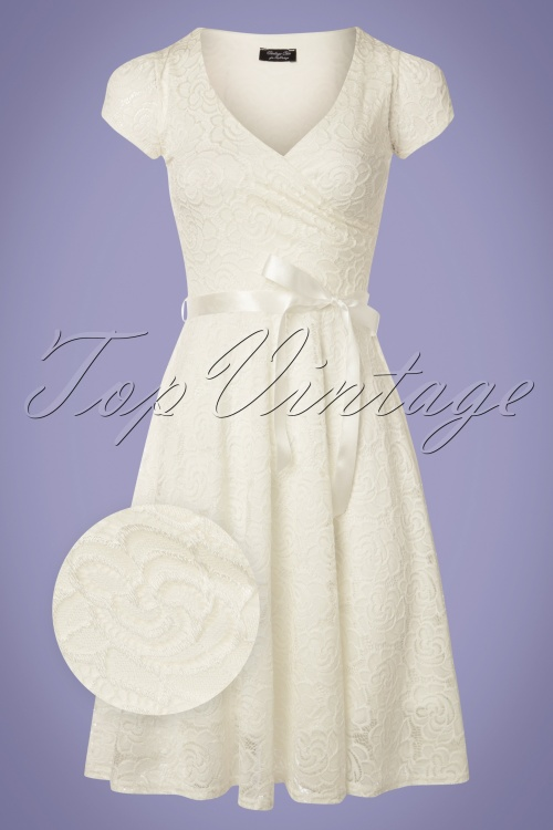 Vintage Chic Cream Lace Dress 102 51 25771 20180508 0001wv
