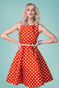 Closet Red Polkadot Dress 102 27 25650 20180508 0005