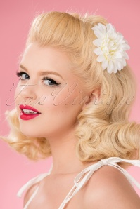 Collectif Hair Clip White 200 50 24766 18052018 008W