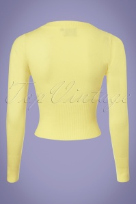 Dancing Days by Banned Dolly Cardigan in Light Yellow 140 80 25911 20180516 0002W