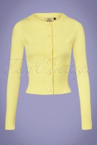 Dancing Days by Banned Dolly Cardigan in Light Yellow 140 80 25911 20180516 0001W