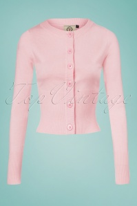 Dancing Days by Banned Dolly Cardigan in Pink 140 80 25912 20180516 0001 (2)