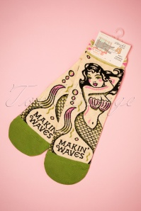 50s Making Waves Ankle Socks