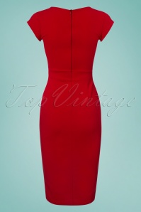 Vintage Chic Red Pencil Dress 100 20 26063 20180516 0004w