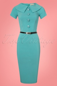 Tatyana Rita Blue Pencil Dress 100 30 26106 20180516 0001w