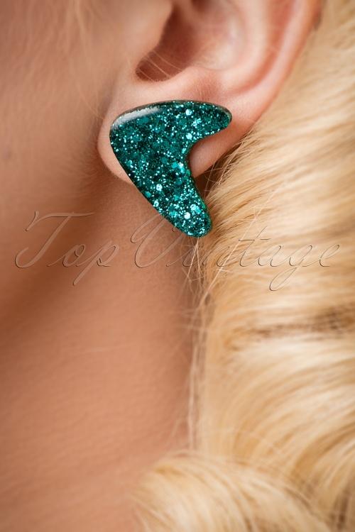 Glitz o Matic Green Earrings 330 49 24949 18052018 027W
