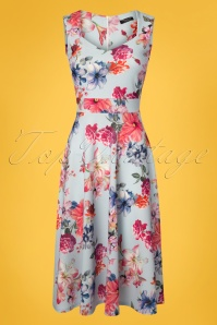 Vintage Chic 50s Veronica Blue Floral Dress 102 39 25969 20180516 0001W