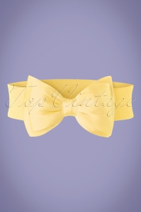 50s Wow to the Bow Belt in Pale Yellow