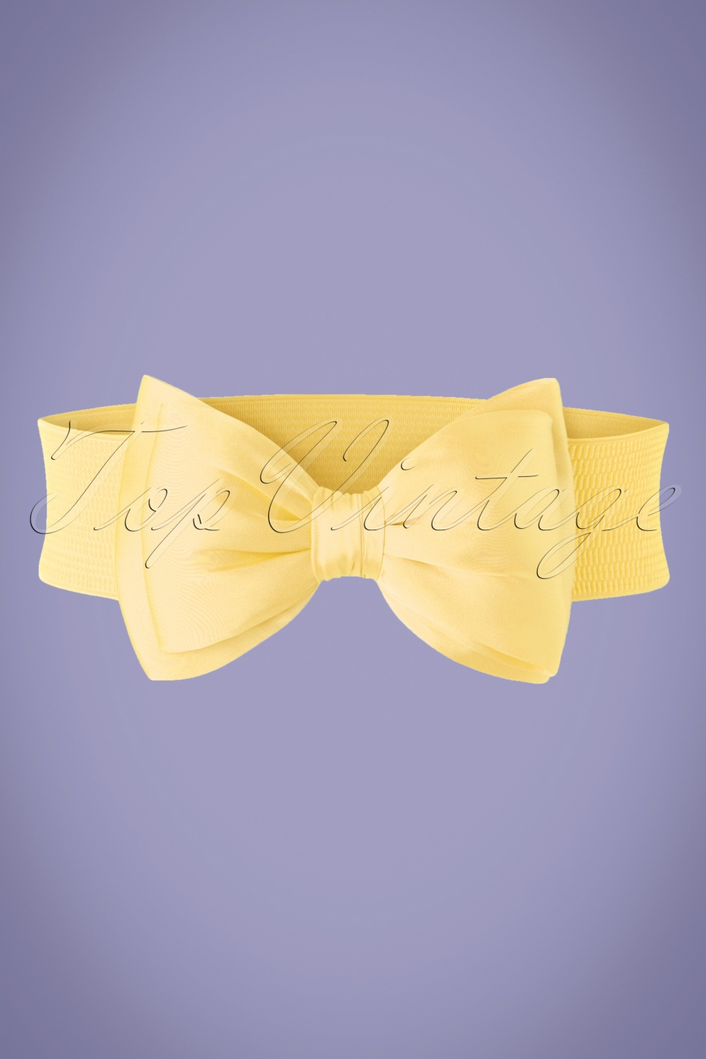 Vintage Wide Belts, Cinch Belts 50s Wow to the Bow Belt in Pale Yellow £11.44 AT vintagedancer.com