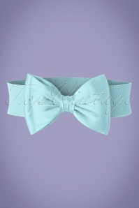 50s Wow to the Bow Belt in Baby Blue
