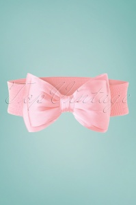 50s Wow to the Bow Belt in Light Pink