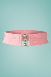 50s Lauren Vintage Stretch Belt in Light Pink