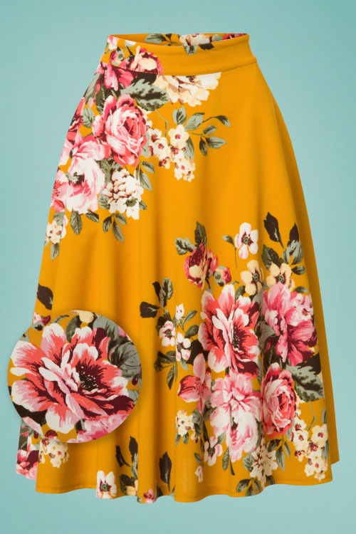 Steady Clothing Flora Thrills Mustard Skirt 122 89 24582 20180529 0001wv
