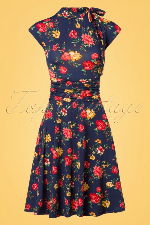 Retrolicious Audrey Bombshell Floral Dress 102 39 26091 20180529 0002w