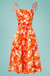 Sheen Orange Floral Swing Dress 102 28 26113 20180529 0013W