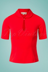 50s Key Note Top in Red