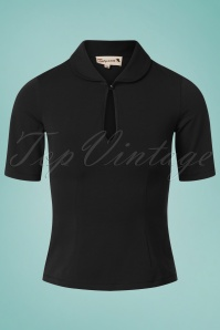 50s Key Note Top in Black