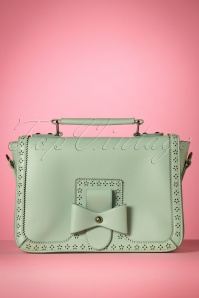 50s Scandal Office Handbag in Mint