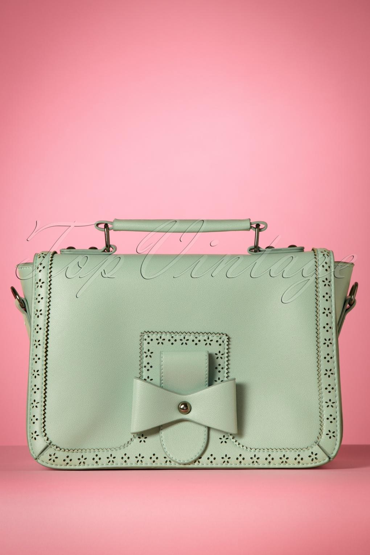 Vintage & Retro Handbags, Purses, Wallets, Bags 50s Scandal Office Handbag in Mint £32.39 AT vintagedancer.com