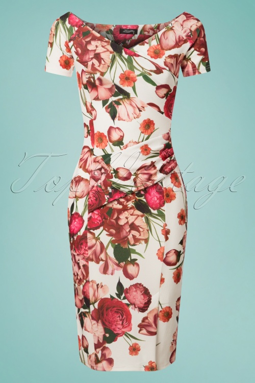 Celia Rose Bardot Floral Pencil Dress 100 59 26096 20180531 0002W