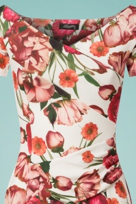 Celia Rose Bardot Floral Pencil Dress 100 59 26096 20180531 0002V