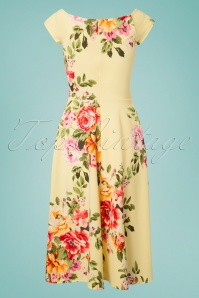 Vintage Chic Lemon Floral Dress 102 89 26108 20180531 0010W