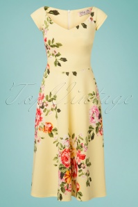 Vintage Chic Lemon Floral Dress 102 89 26108 20180531 0003W