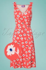 TopVintage Boutique Collection Janice Floral Dress Orange 100 29 25964 20180529 0003wv