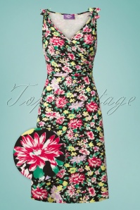TopVintage Boutique Collection Janice Floral Dress in Black 100 14 25989 20180529 0001wv