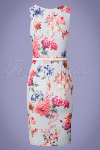 Vintage Chic Blue Floral Pencil Dress 100 39 26092 20180531 0006w