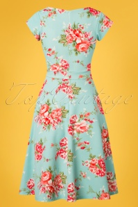 Vintage Chic Floral Blue Swing Dress 102 39 25541 20180531 0006w