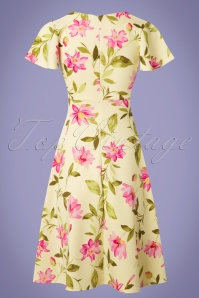 Vintage Chic Floral Yellow Swing Dress 102 89 25539 20180531 0006w