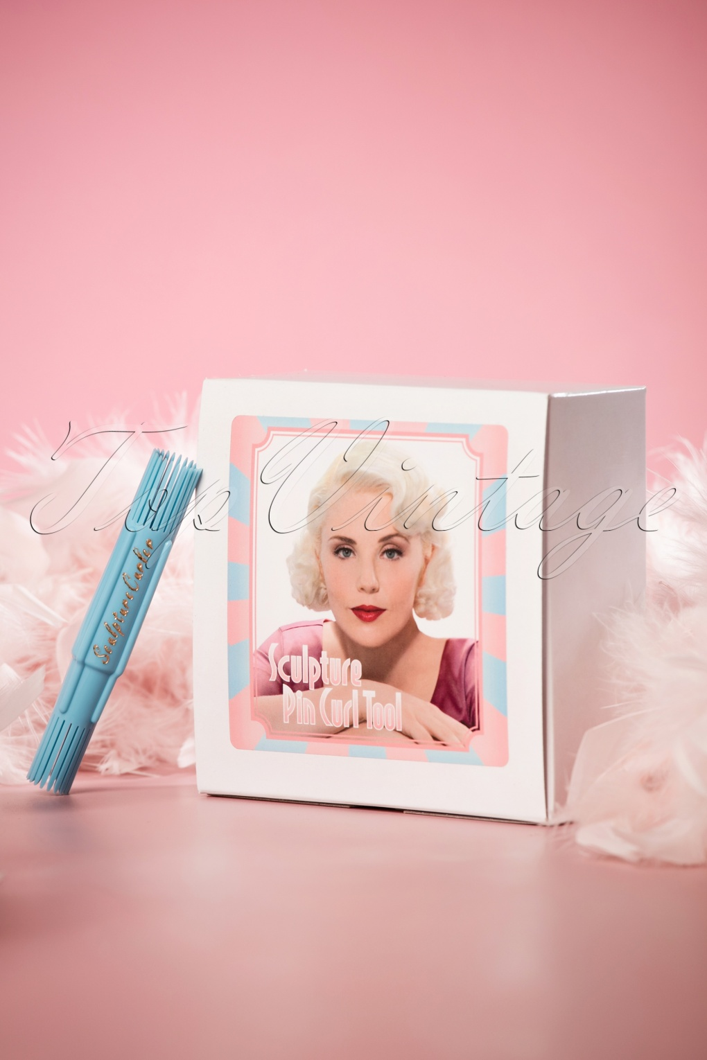 1940s Hairstyles- History of Women's Hairstyles Vintage Hairstyling Sculpture Pin Curl Tool Box Set £31.74 AT vintagedancer.com