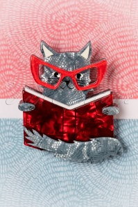 Erstwilder Puss in Books Brooch 340 27 26283 04062018 006W
