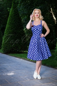 Sheen Eloise Dress Blue Polkadot Swing 102 39 23942 20180503 002W