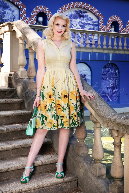 Dancing Days by Banned Yellow Sunflower Dress 102 89 24249 20180327 0005W