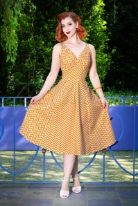 Miss Candyfloss Odette Orange Swing Dress 102 89 24196 20180508 1W