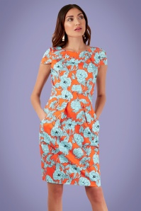 Closet London Orange Floral Dress 100 28 26000 20180605 01