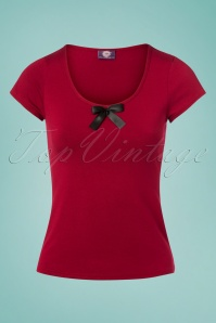 TopVintage Boutique Collection Red Top With Bow 111 20 26045 20180605 0007w