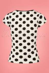 TopVintage Boutique Collection White Polkadot Top 110 59 25965 20180605 0003w