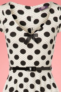 TopVintage Boutique Collection White Polkadot Belt Swing Dress 25963 20180605 0063V