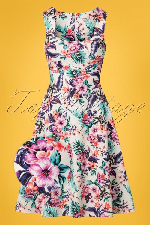 4776e7d22c2d1 Vintage Chic Tropcial Flower Swing Dress 102 59 25968 20180605 0069wv